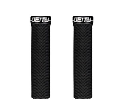 Deity Waypoint Grips - Black, Lock-On - Draco Bikes
