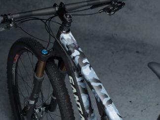 DYEDbro Frame Protector Camo White at Draco Bikes