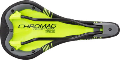 Chromag Lynx DT Saddle - Chromoly, Black and Tight Green - Draco Bikes