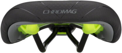 Chromag Lynx DT Saddle - Chromoly, Black and Tight Green - Draco Bikes