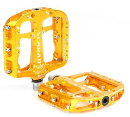 Chromag Scarab Pedals - Platform Aluminum - Gold - Draco Bikes