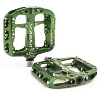 Chromag Scarab Pedals - Platform Aluminum - Green - Draco Bikes