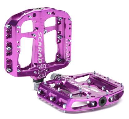 Chromag Scarab Pedals - Platform Aluminum - Purple - Draco Bikes