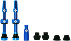 Muc-Off Tubeless Valve Kit: Blue, fits Road and Mountain, 44mm, Pair by Draco Bikes