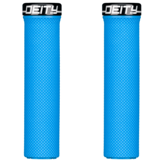 Deity Components Waypoint Grips - Blue, Lock-On - Draco Bikes