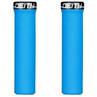 Deity Components Waypoint Grips - Blue, Lock-On - Draco Bikes