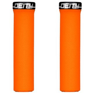 Deity Components Waypoint Grips - Orange, Lock-On - Draco Bikes