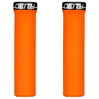 Deity Components Waypoint Grips - Orange, Lock-On - Draco Bikes