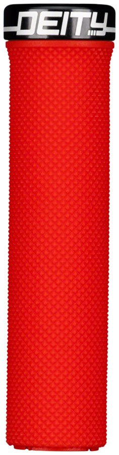 Deity Components Waypoint Grips - Red, Lock-On - Draco Bikes 1