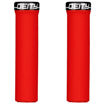Deity Components Waypoint Grips - Red, Lock-On - Draco Bikes