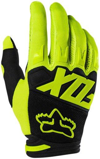 Fox Racing Dirtpaw Race Gloves - Fluorescent Yellow, Full Finge - Draco Bikes