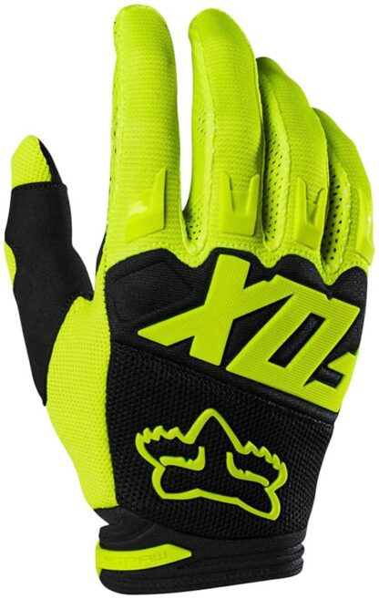Fox Racing Dirtpaw Race Gloves - Fluorescent Yellow, Full Finge - Draco Bikes