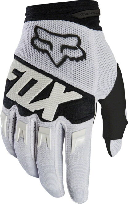 Fox Racing Dirtpaw Race Gloves - White, Full Finger, Men's