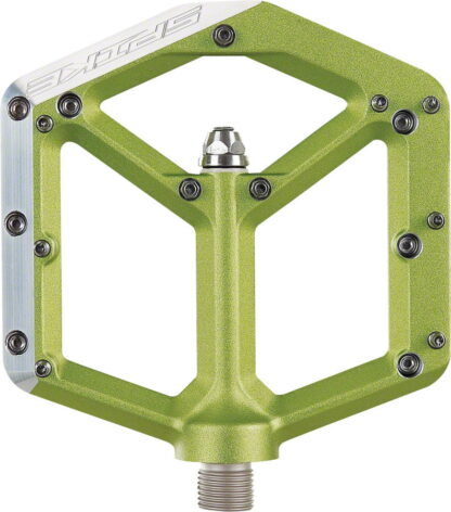 Spank Spike Pedals - Platform Aluminum, 9-16 - Green - Draco Bikes 2