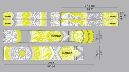 DYEDbro Frame Protection Mandala White and Color at Draco Bikes 12