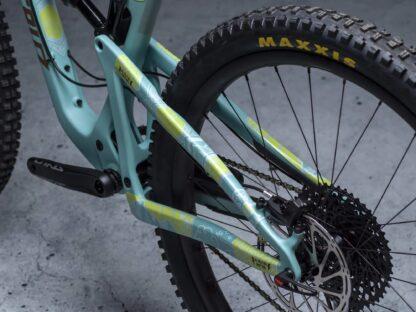 DYEDbro Frame Protection Mandala White and Color at Draco Bikes
