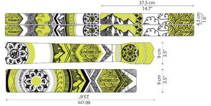 DYEDbro Frame Protection Mandala Black Color at Draco Bikes10
