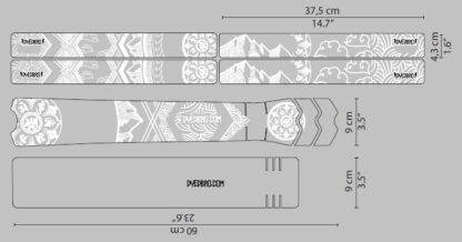 DYEDbro Frame Protectors at Draco Bikes Mandala White 4