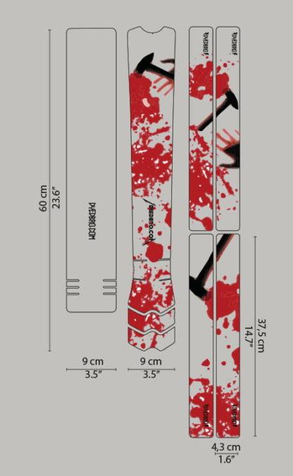 DYEDbro Frame Protector at Draco Bikes - Kill m all 3