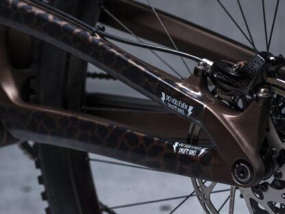 DYEDbro Frame Protectors at Draco Bikes - Animal Print 1